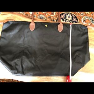 Bags - Black Canvas Tote EUC